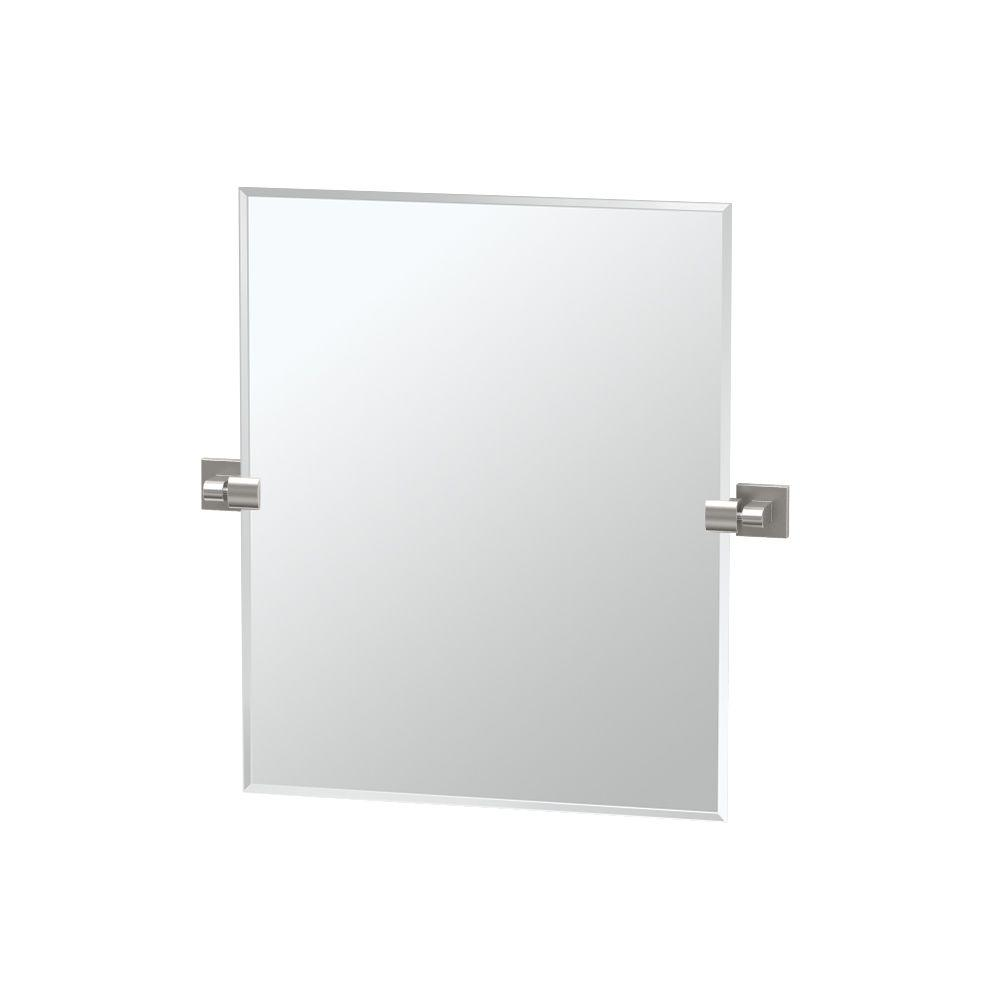 Gatco Elevate 24 in. x 24 in. Frameless Single Rectangle Mirror in ...
