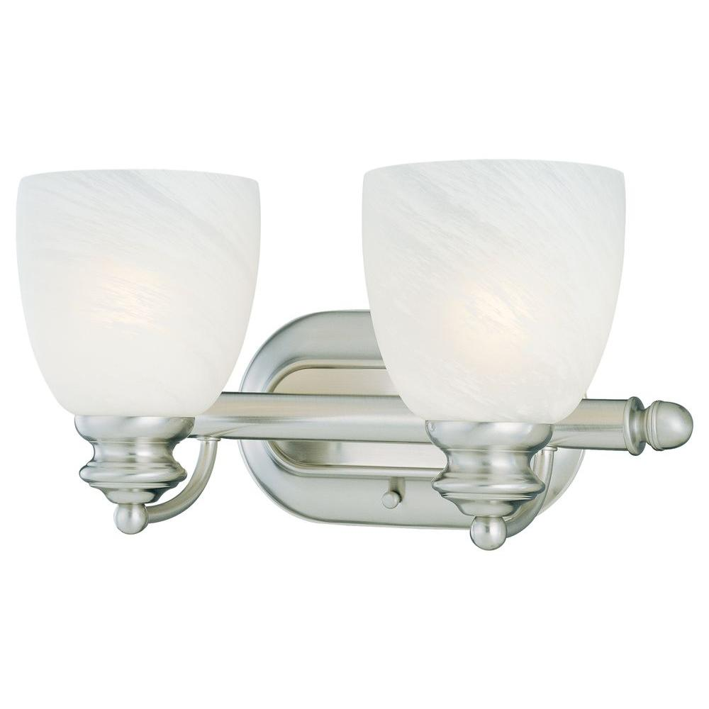 Thomas Lighting Tranquility 2-Light Brushed Nickel Wall Vanity-DISCONTINUED
