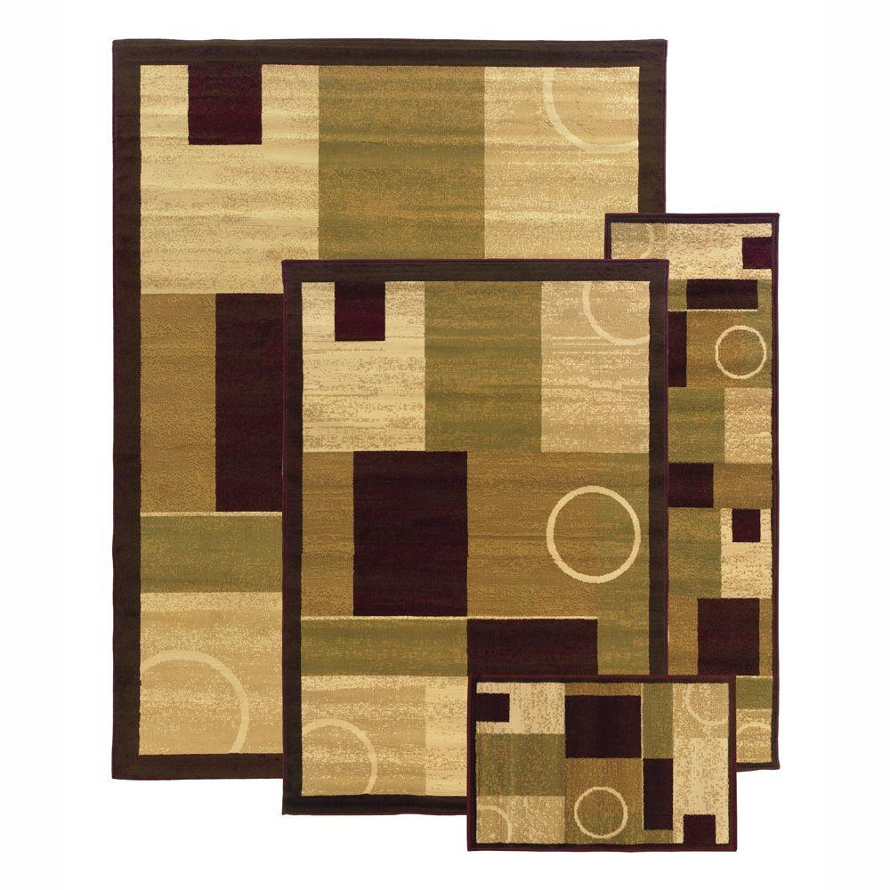 Oriental Weavers Gambier Multi 7 ft. 6 in. x 10 ft. 4-Piece Rug Set-DISCONTINUED