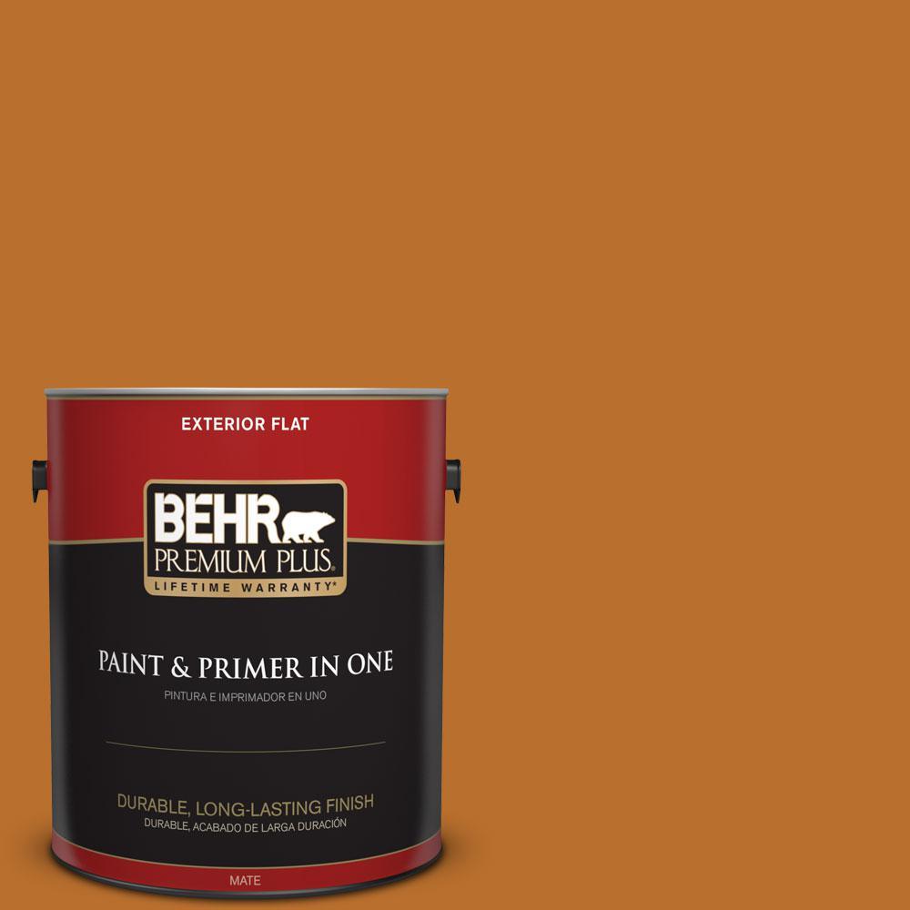 BEHR Premium Plus 1-gal. #S-H-280 Acorn Spice Flat Exterior Paint
