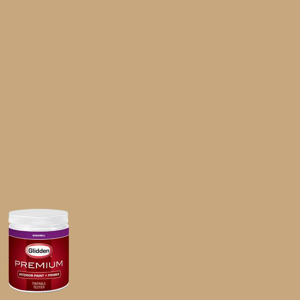Glidden Premium 8 Oz Hdgy12 Golden Needles Eggshell Interior Paint Sample With Primer Hdgy12p