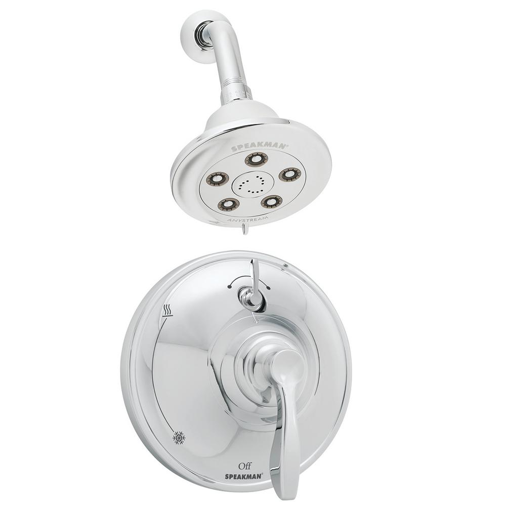 Chelsea 1-Handle 3-Spray Shower Faucet in Polished Chrome (Valve Included)