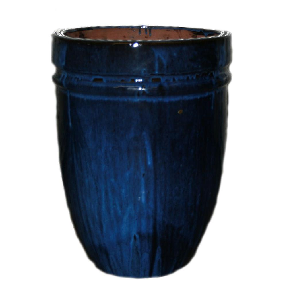 Trendspot 16 In Dia Thorn Blue Ceramic Quadrato Pot