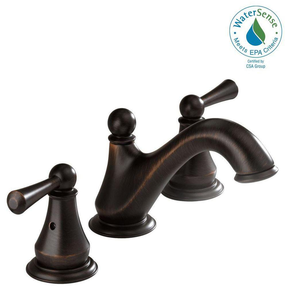 Delta Lewiston 8 in. Widespread 2-Handle Bathroom Faucet in Venetian ...