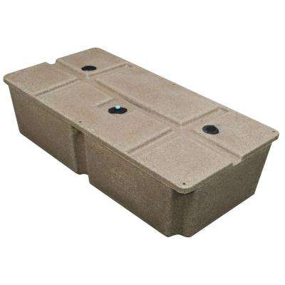 48 in. x 24 in. x 12 in. Dock System Float Drum Sandstone Distributed by Tommy Docks