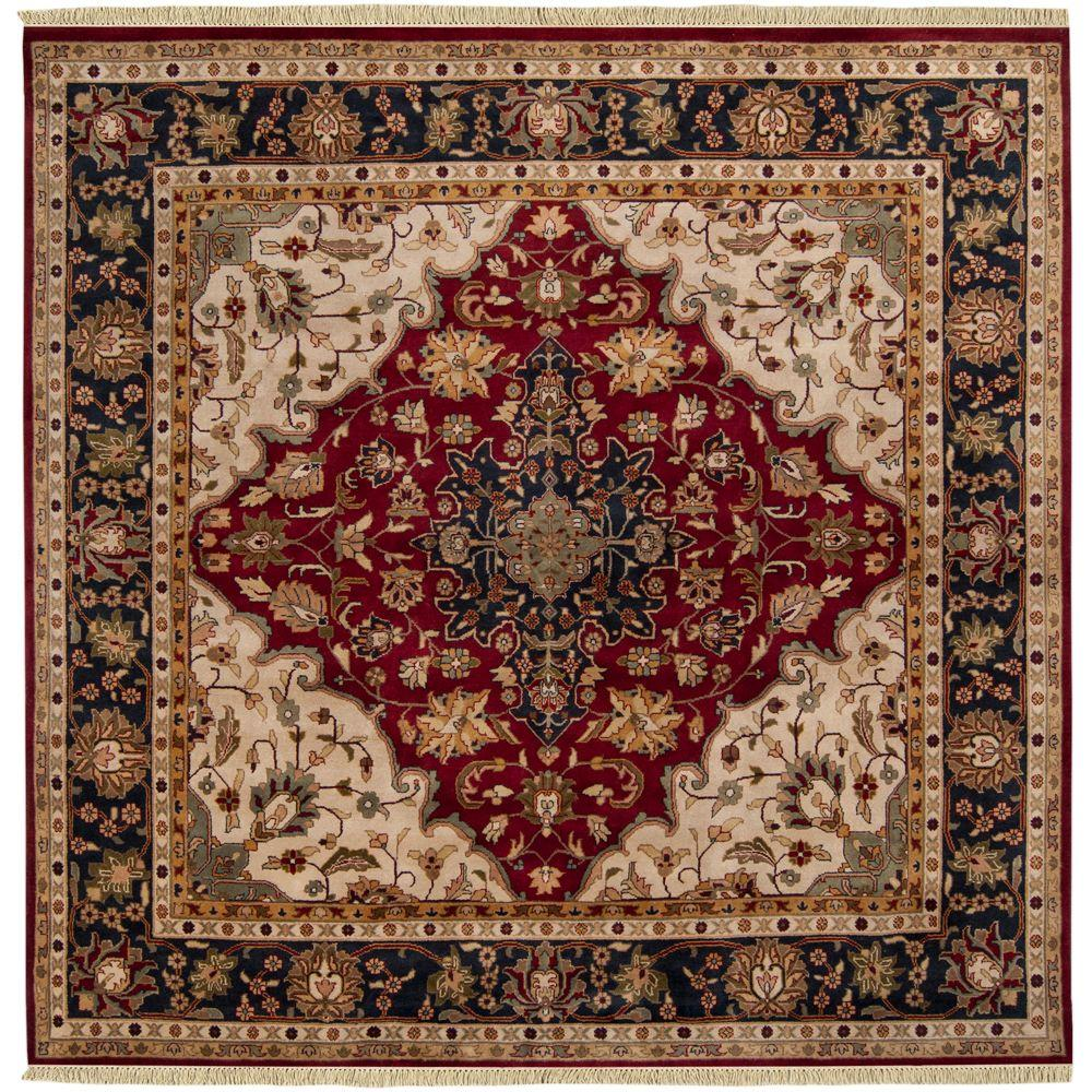 Beverly Burgundy 8 ft. Square Area Rug