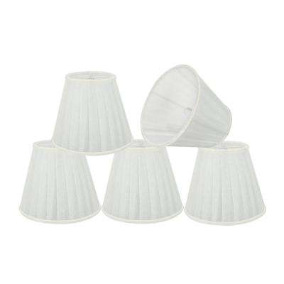 5 in. x 4-1/4 in. White Pleated Empire Lamp Shade (5-Pack)