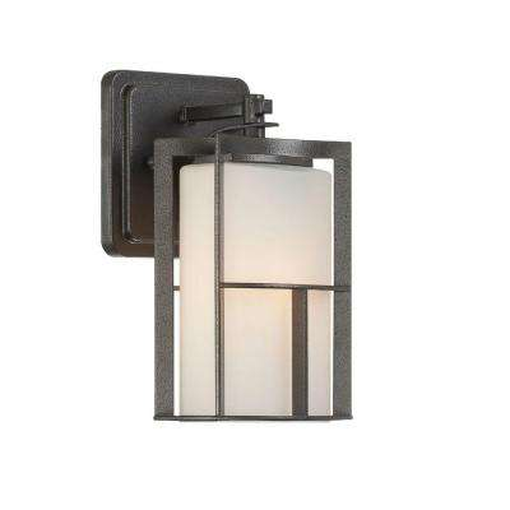 Braxton 1-Light Charcoal Outdoor Incandescent Wall Lantern