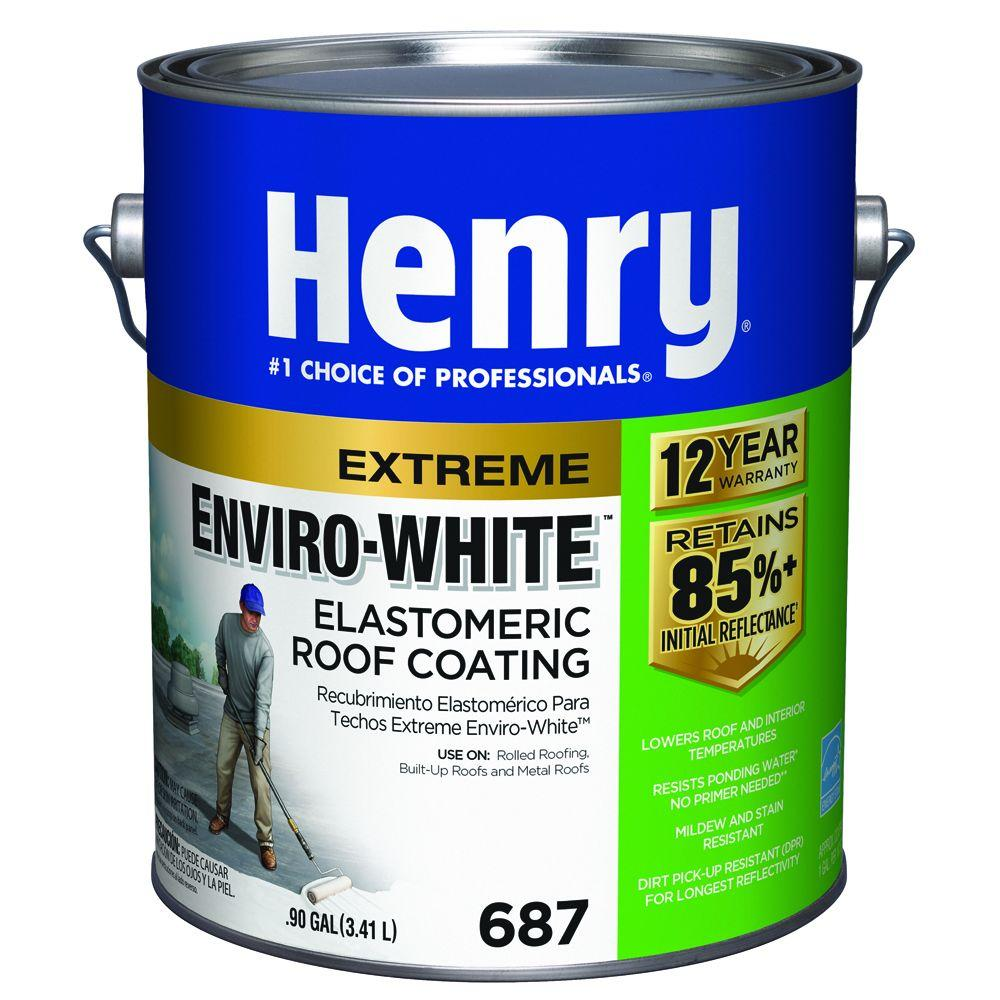 0.90 Gal. 687 Enviro-White Elastomeric Reflective Roof Coating