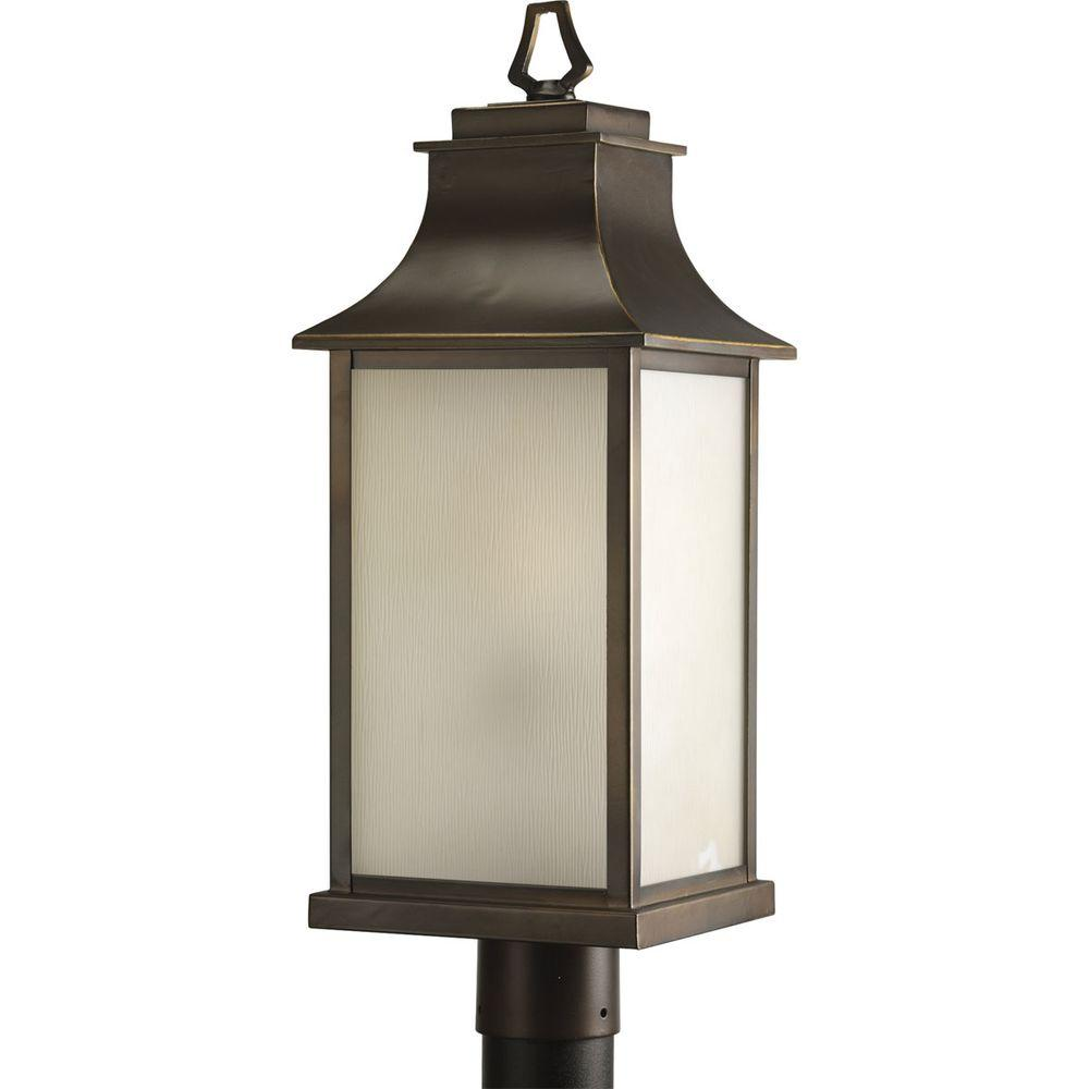 Progress Lighting Salute Collection 1-Light Oil-Rubbed Bronze Post Lantern
