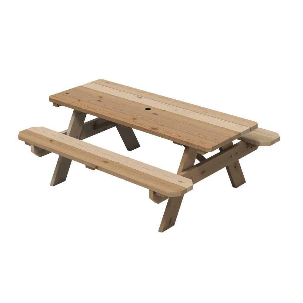 null Cedar Picnic Table with Keystone Connectors