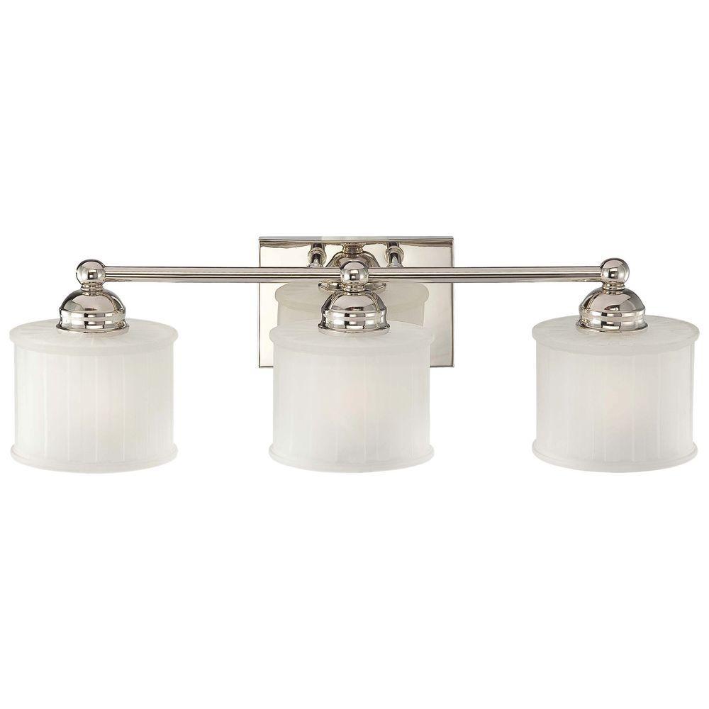 3-Light Polished Nickel Bath Light