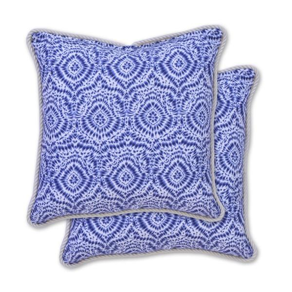 Shibori Square Outdoor Throw Pillow 2 Pack 8059 02448100 The Home Depot