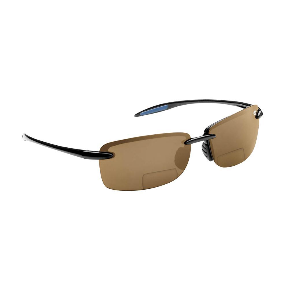 a1f77d7f67 Cali Polarized Sunglasses Black Frame with Amber Lens Bifocal Reader 200