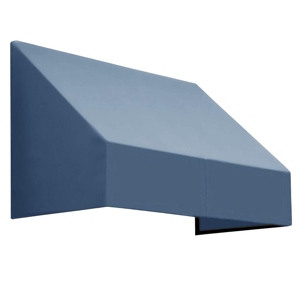 AWNTECH 12 ft. New Yorker Window/Entry Awning (56 in. H x 36 in. D) in Dusty Blue