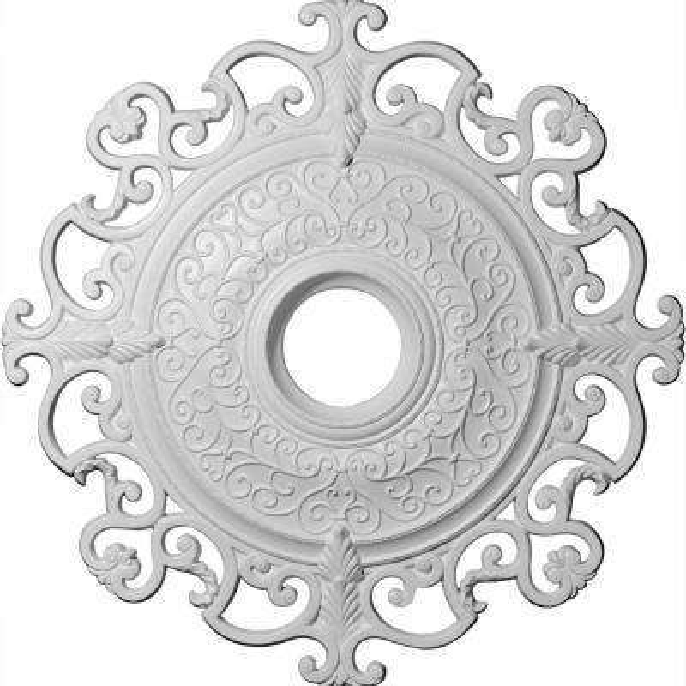 38-3/8 in. OD x 6-5/8 in. ID x 2-7/8 in. P (Fits Canopies up to 8-1/4 in.) Orleans Polyurethane Ceiling Medallion