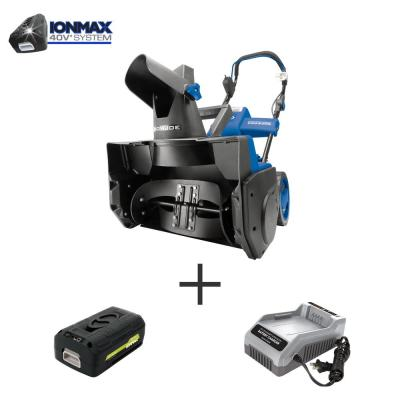 Snow Joe 18 in. 40-Volt Single-Stage Cordless Electric Snow Blower Kit w/ 4.0 Ah Battery + Charger