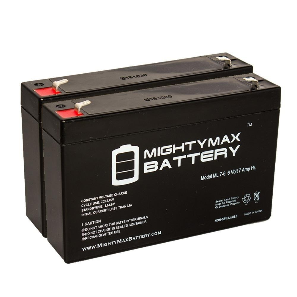 Mighty Max Battery 6 Volt 7 Ah Sla (sealed Lead Acid) Agm Type Replacement Battery For Emergency Lighting Systems (2 Pack)