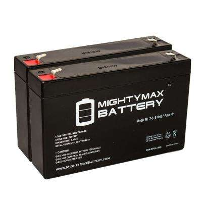 6-Volt 7 Ah SLA (Sealed Lead Acid) AGM Type Replacement Battery for Emergency Lighting Systems (2-Pack)