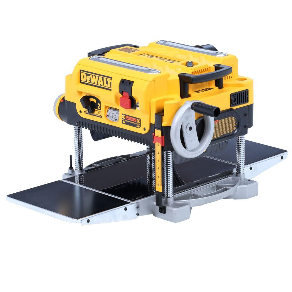 Dewalt 15 Amp 13 In Heavy Duty 2 Sd Thickness Planer With Knives And Tables Dw735x The Home Depot