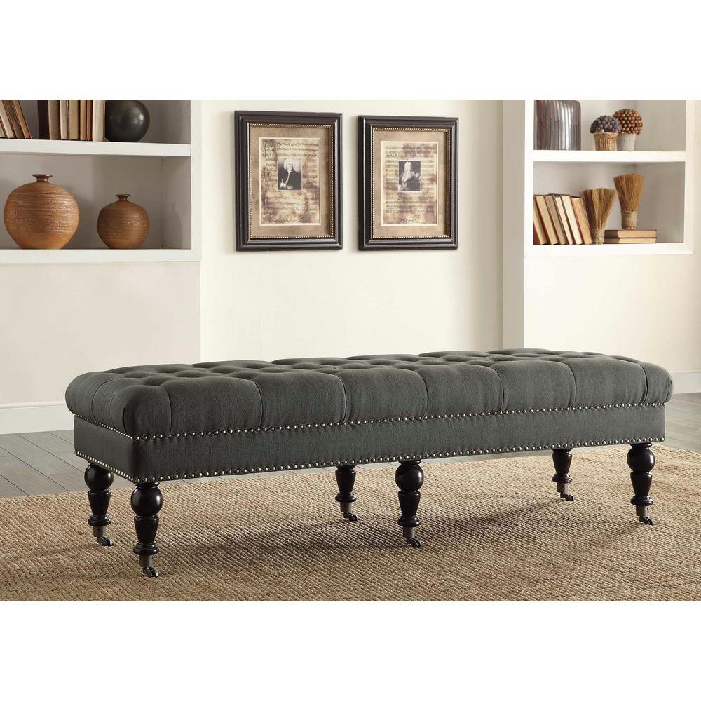 Linon Isabelle Black Mobile Bench