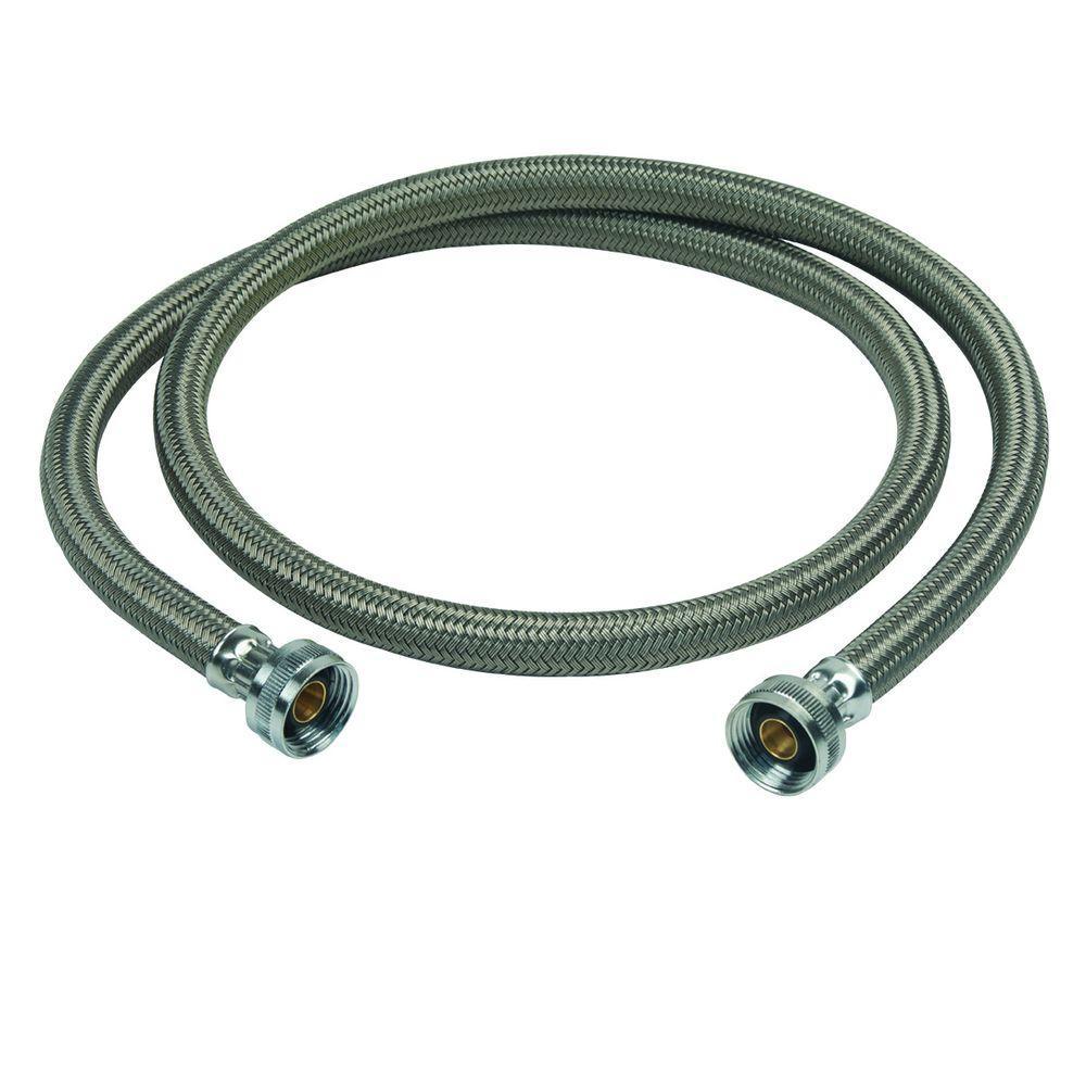 Brasscraft 3/4 inch Female Hose Thread, Both Ends x 60 inch Braided Polymer Washing Machine Connector by BrassCraft