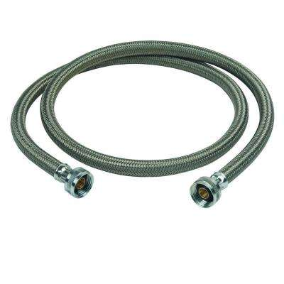 3/4 in. Female Hose Thread, Both Ends x 60 in. Braided Polymer Washing Machine Connector