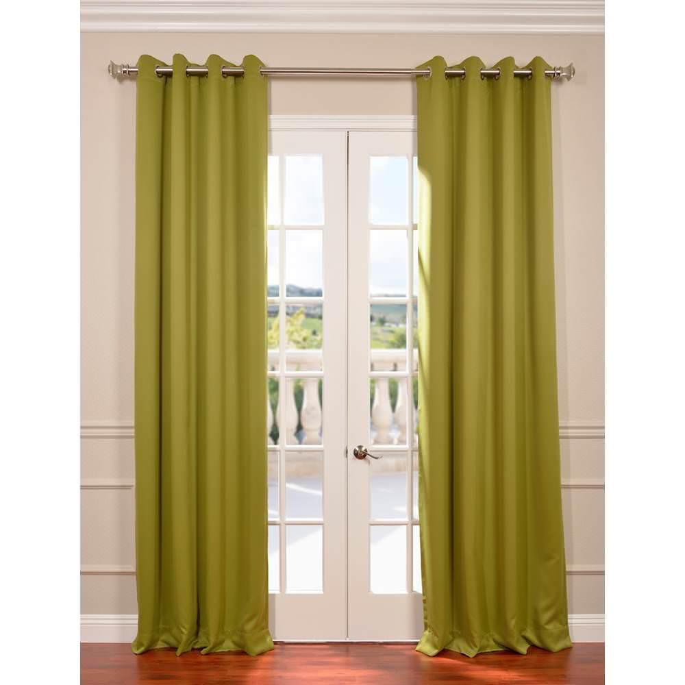 Semi-Opaque Moss Green Grommet Blackout Curtain - 50 in. W x 96 in. L (Panel)