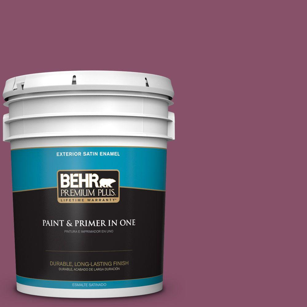 5-gal. #M120-7 Raspberry Crush Satin Enamel Exterior Paint