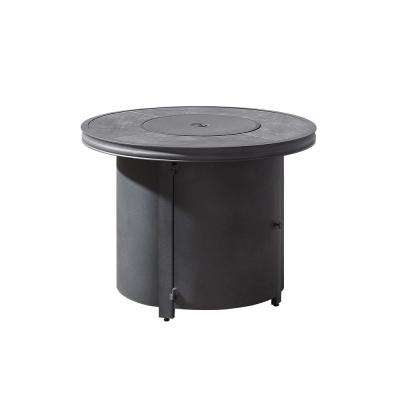 Davenport 32.8 in. Round Liquid Propane Gas Fire Pit in Gray