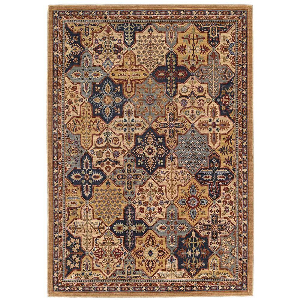 Karastan Leicester Multi 5 ft. 7 in. x 7 ft. 11 in. Area Rug