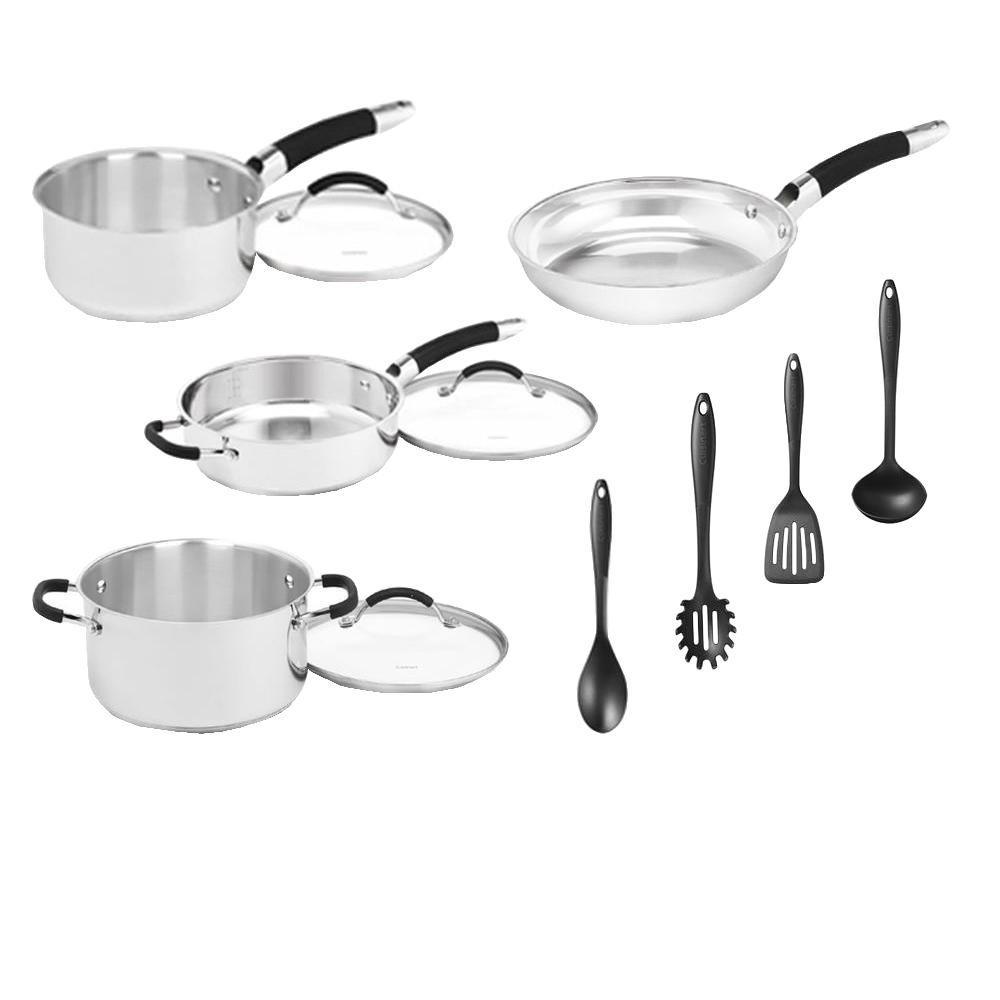 Cuisinart 11-Piece Stainless Steel Cookware Set