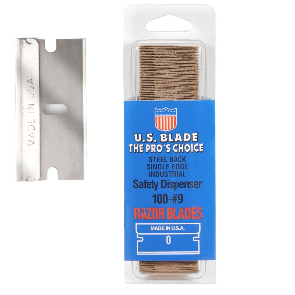 U.S. BLADE 300 Single Edge #9 Steel Back in Clam Shell Pa...