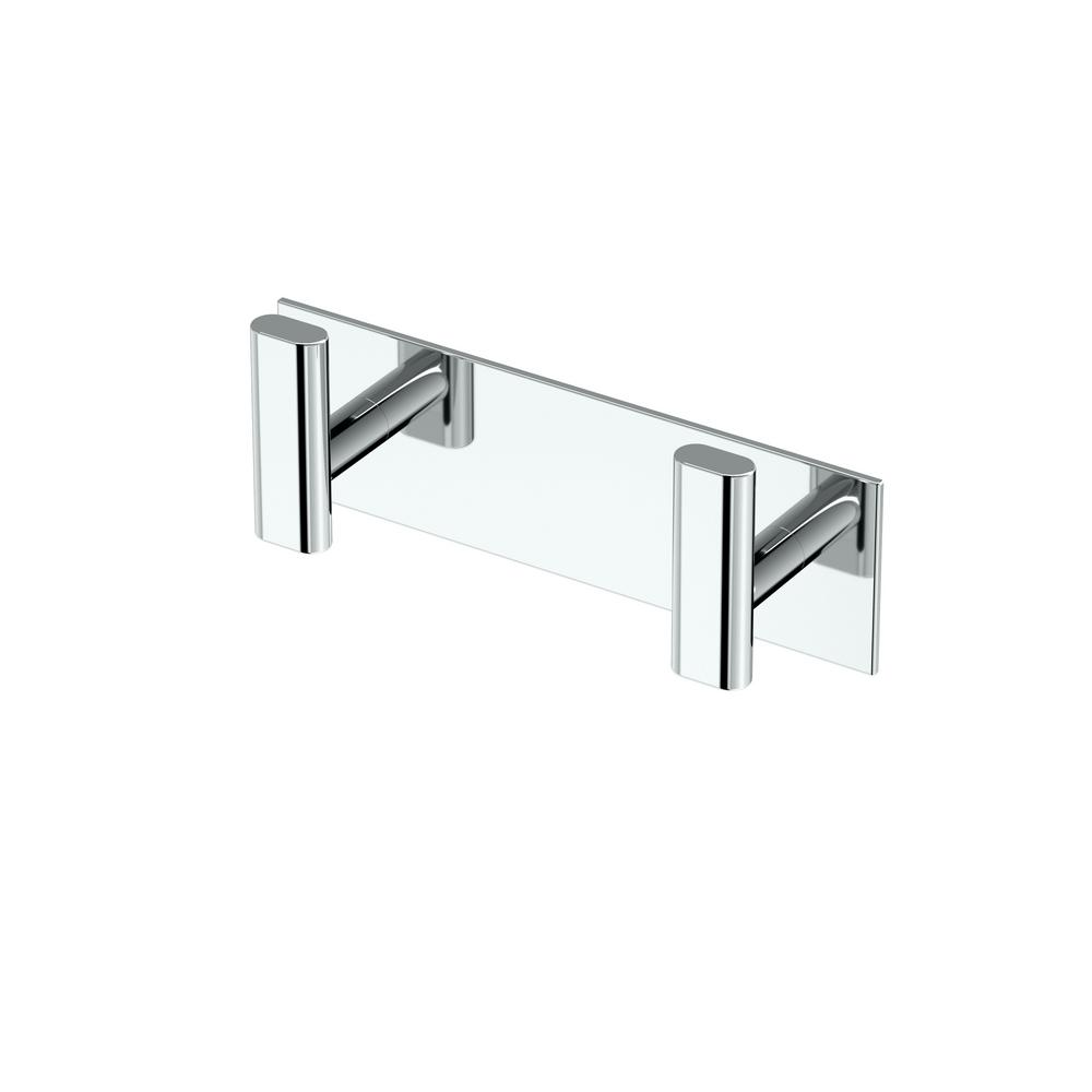 Elevate All Modern Decor Double Robe Hook in Chrome