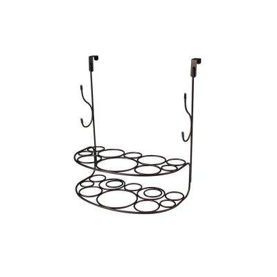myBella 12.375 in. W Over the Cabinet Shapes Deluxe Styling Rack in Bronze