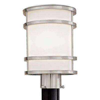 Bay View 1-Light Brushed Stainless Steel Outdoor Post Lantern