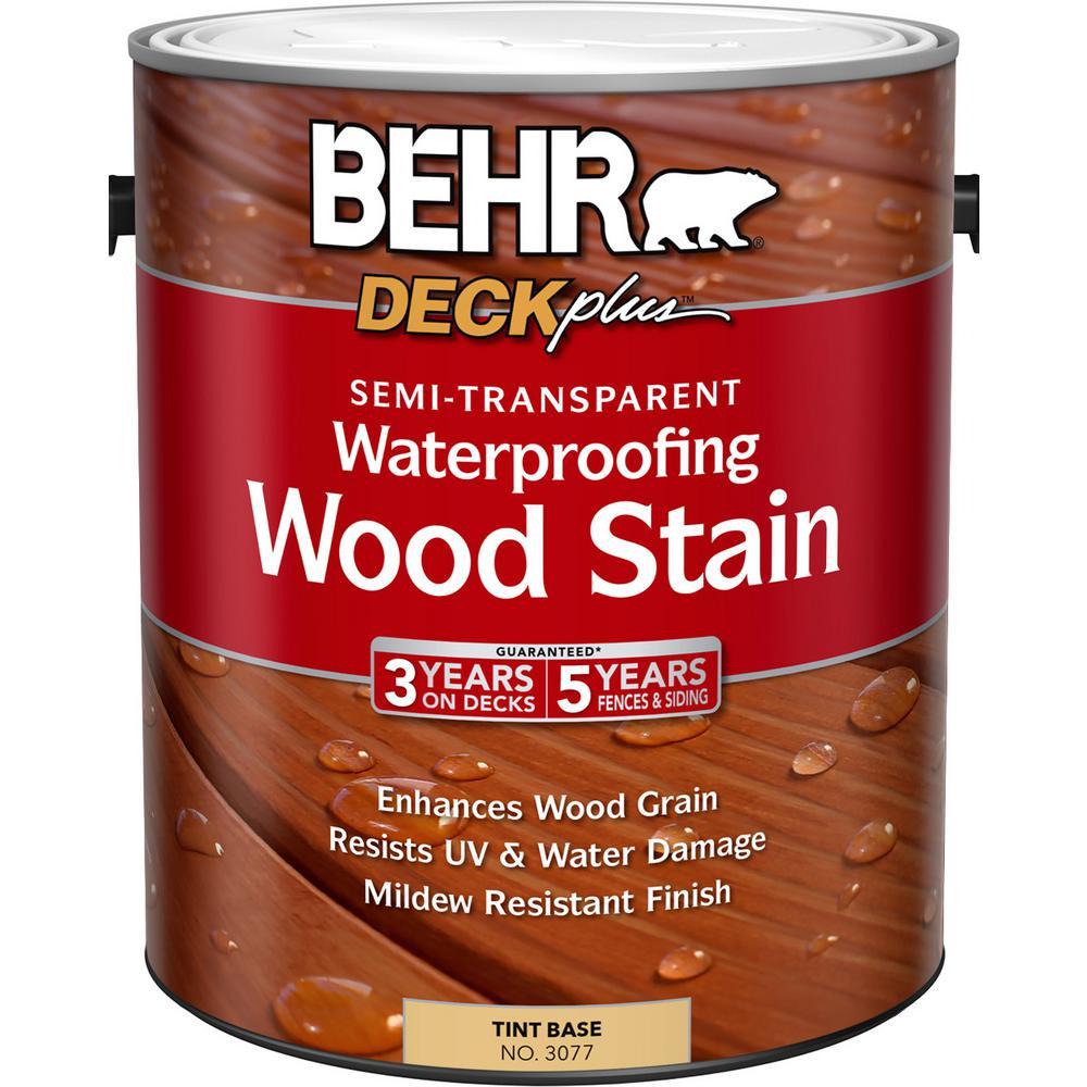 BEHR 1 gal. DECKplus Tint Base Semi-Transparent Waterproofing Wood Stain