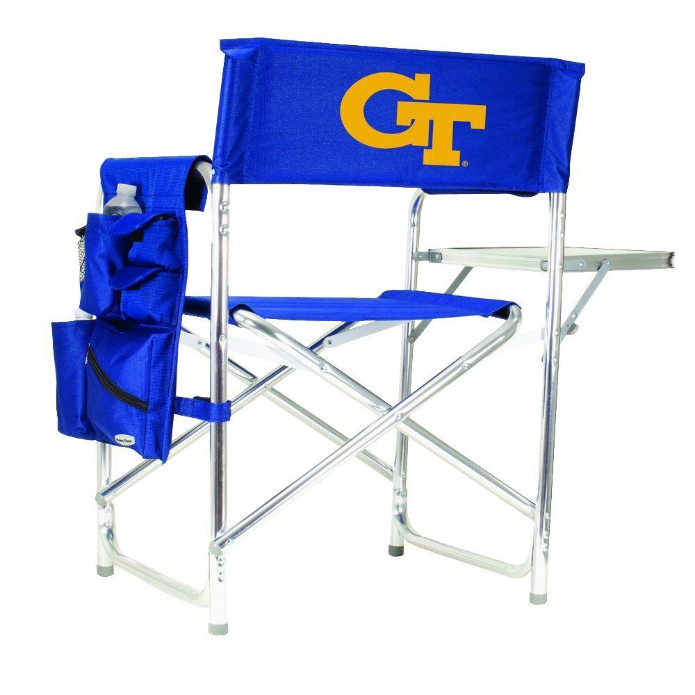 Georgia Tech Navy Sports Chair with Digital Logo