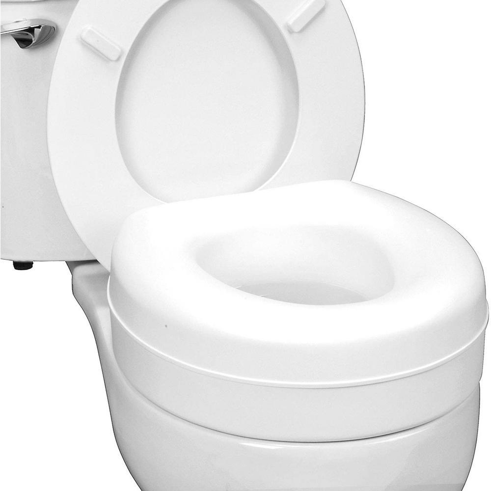 Deluxe Plastic Toilet Seat in White
