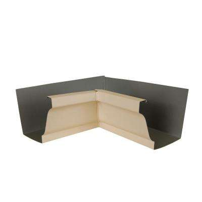 6 in. Light Maple Aluminum Inside Box Gutter Miter