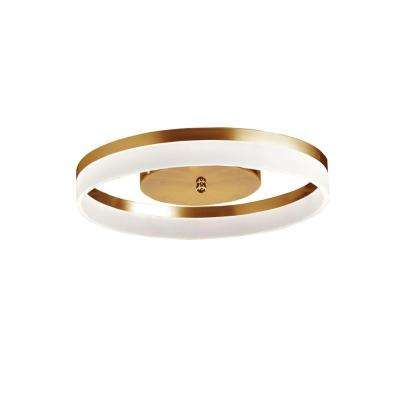 Keplar 1-Light 18 in. Gold Flush Mount