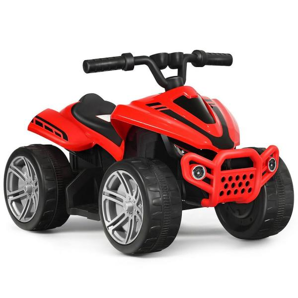 6-Volt Kids 4-Wheeler ATV Quad Battery Powered Electric Ride On Car Toy in Red