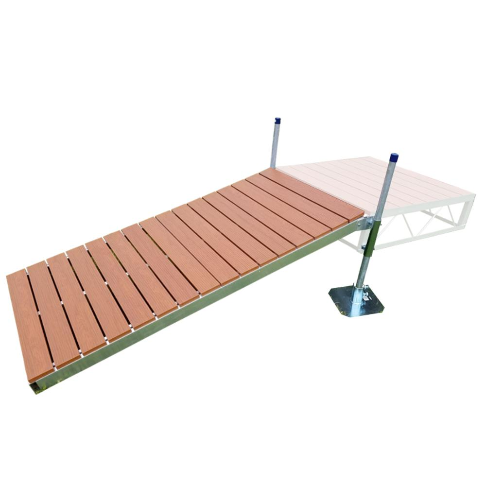 Patriot docks 4 ft x 8 ft shore ramp kit with aluminum decking shore ramp kit with aluminum decking solutioingenieria Image collections