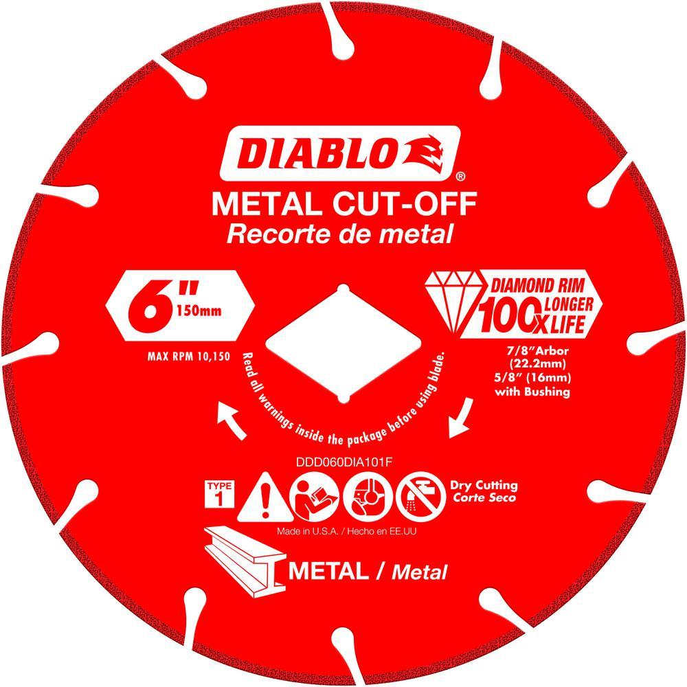 6 in. Diamond Wheel for Metal Cutting
