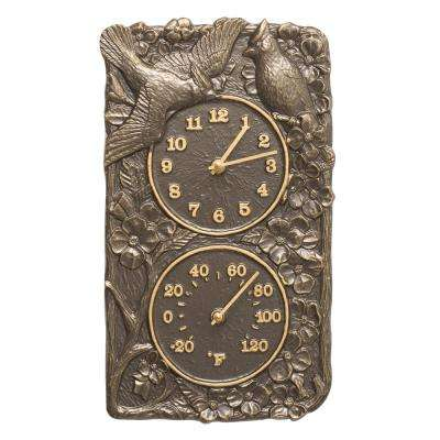 Cardinal Indoor Outdoor Wall Clock and Thermometer