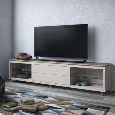 Lincoln Maple Cream and Off White Storage Entertainment Center