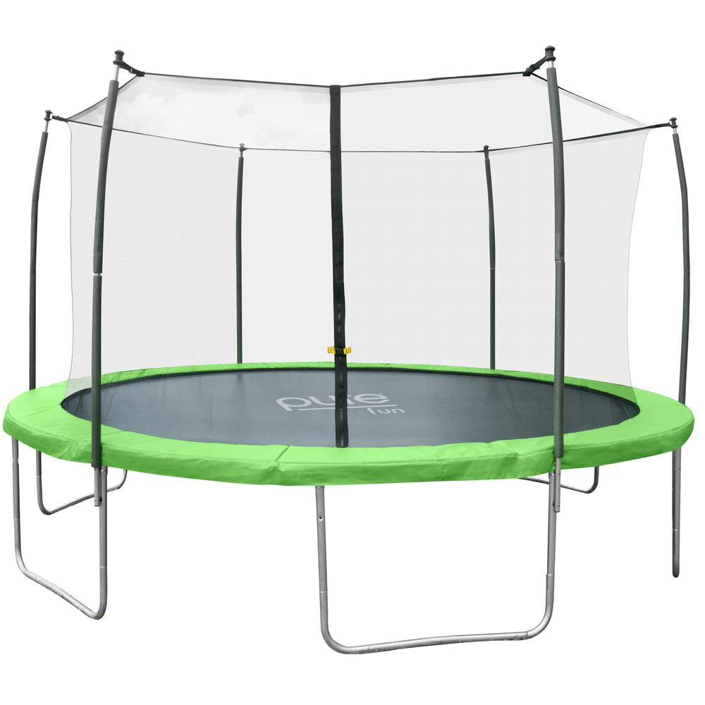 Upper Bounce 14 Ft Trampoline Enclosure Net: Upper Bounce Easy Assemble Spacious 9 Ft. X 15 Ft
