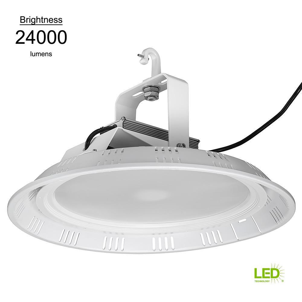 Commercial 18 in. Round White 750w HID Equivalent 24000 Lumen Integrated