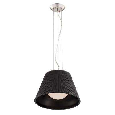 Ribo Collection 1-Light Chrome and Black Pendant