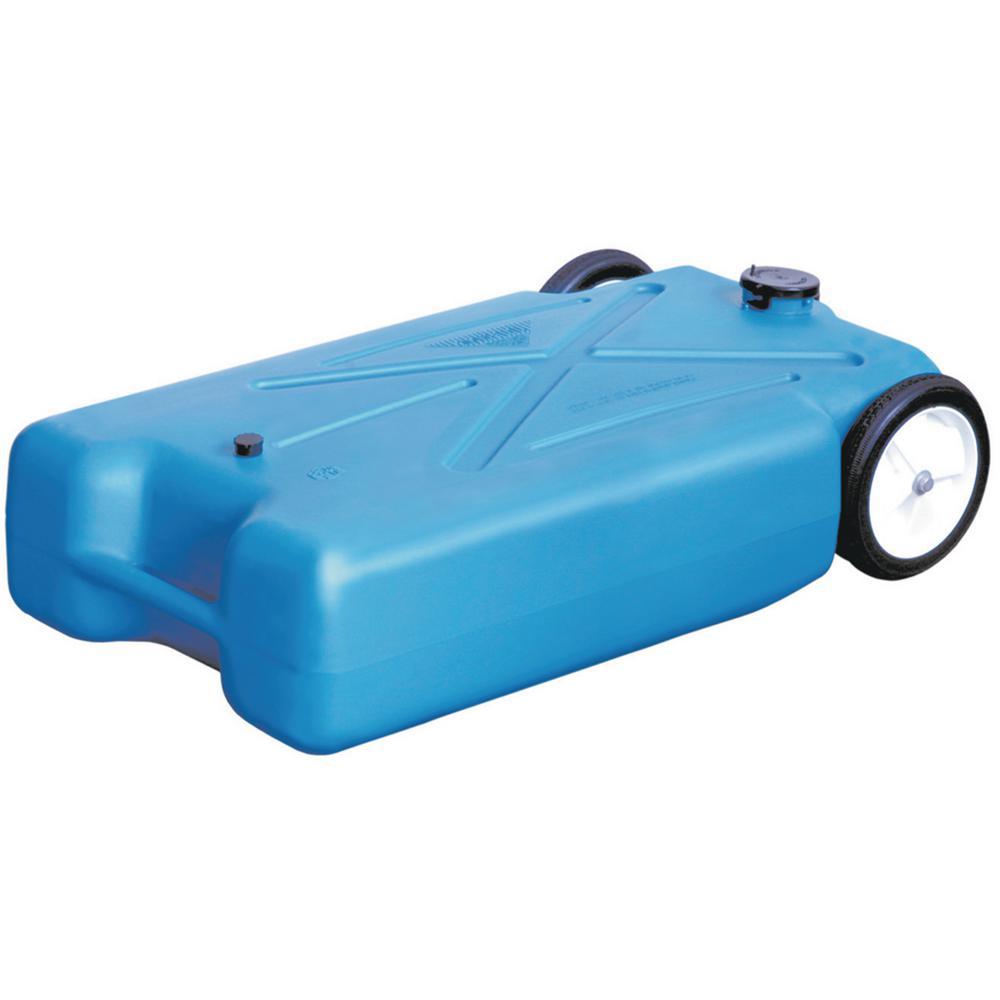 15 Gal. Polyethylene Tote-Along RV Waste Tank with Heavy-Duty Wheels